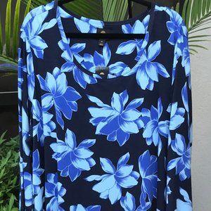 Blue Hawaiian Floral - 4X